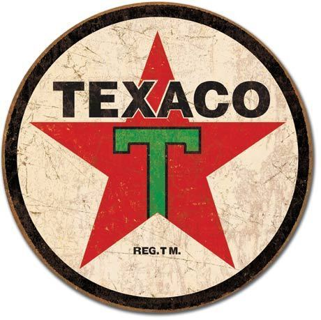 American Advertising Tin Sign - Vintage Wall Decor  -Texaco '36 ROUND
