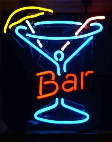 Neon Sign BAR - VERRE A COCKTAILS