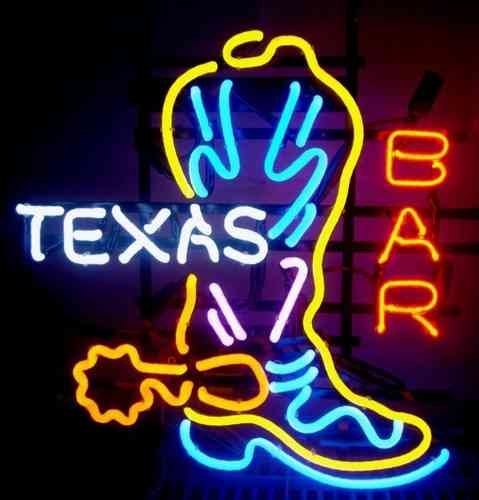 Neon Sign TEXAS BAR