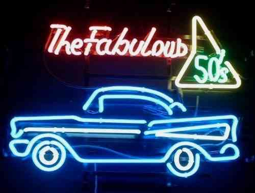 Neon Sign THE FABULOUS FIFTIES