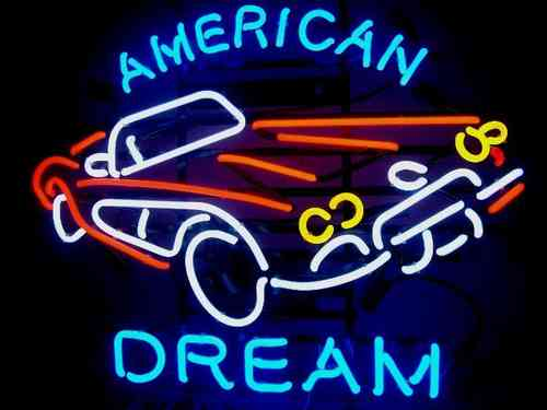 Neon Sign  CORVETTE - AMERICAN DREAM