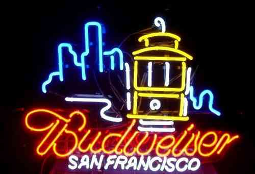 Neon Sign BUDWEISER - SAN FRANCISCO