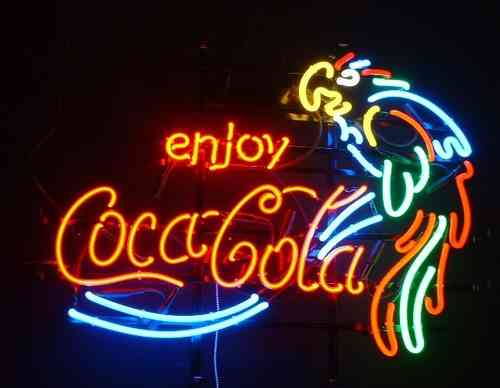 Neon Sign COCA COLA PERROQUET