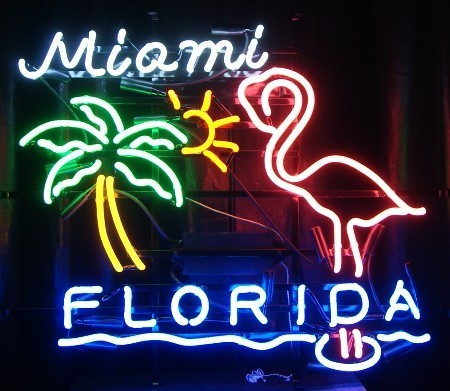 Neon Sign MIAMI FLORIDA