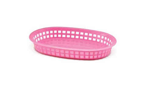 Retro tableware Basket, Oval Pink