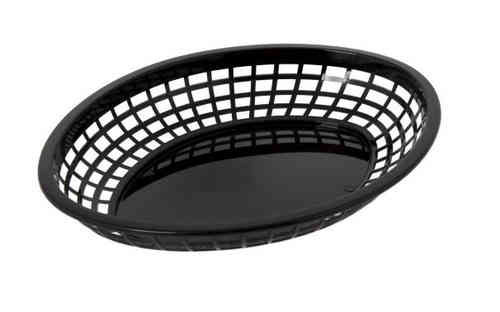 Retro tableware Basket, Oval Black