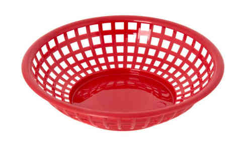 Retro tableware Basket, Round Red