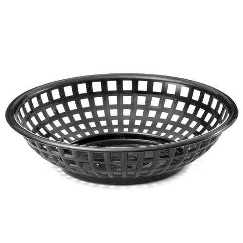 Retro tableware Basket, Round Black