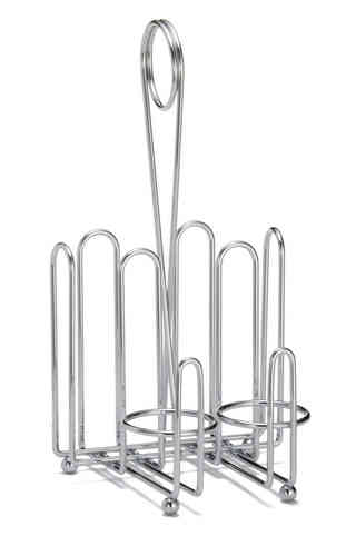 Combo Rack CHR - For Ketchup & Mustard (with salt & pepper dispensers) - Bulk 12 Items
