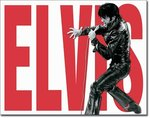 American Advertising Tin Sign - Vintage Wall Decor - Elvis Leather