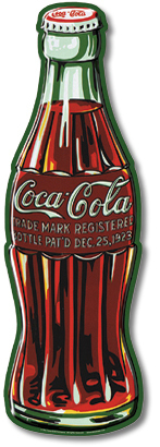 Coke Contour Bottle Sign