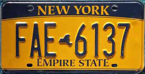 Genuine American Licence Plate - NEW YORK