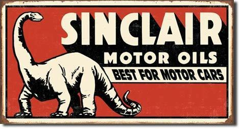 American Advertising Tin Sign - Vintage Wall Decor Sinclair Dinosaur