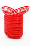Lot de 36 paniers en plastique pour Hamburgers, Frites, Hot Dog ...