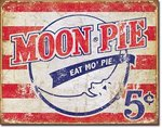 American Advertising Tin Sign - Vintage Wall Decor  Moon Pie - American