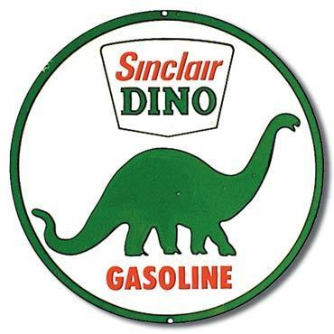 American Advertising Tin Sign - Vintage Wall Decor  - Sinclair Dino Gasoline