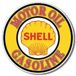 American Advertising Tin Sign - Vintage Wall Decor  - Shell Gas & Oil