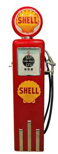 Reproduction American Gas Pump - Shell