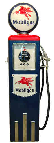 Reproduction American Gas Pump - Mobil Gas