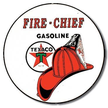 American Advertising Tin Sign - Vintage Wall Decor - Texaco/Fire Chief