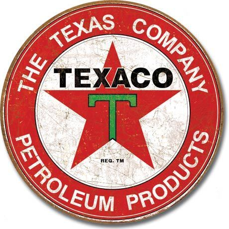American Advertising Tin Sign - Vintage Wall Decor - Texaco - The Texas Company