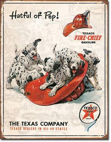 American Advertising Tin Sign - Vintage Wall Decor - Texaco - Hatful of Pep