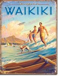 American Advertising Tin Sign - Vintage Wall Decor - Hawaii - Surfside