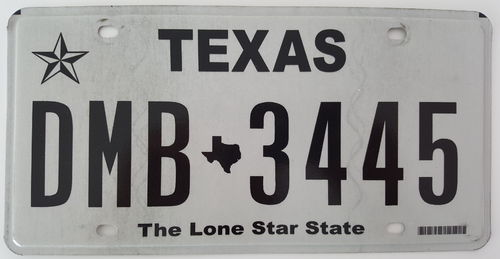 Genuine American Licence Plate - TEXAS