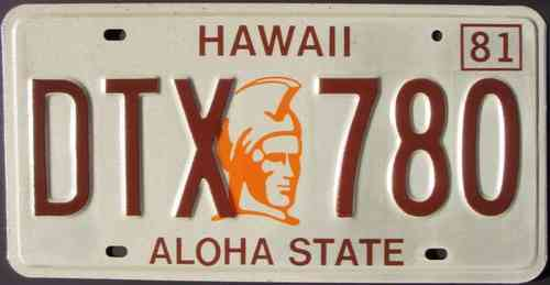 Genuine American Licence Plate - HAWAII