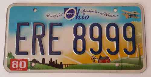 Genuine American Licence Plate - OHIO