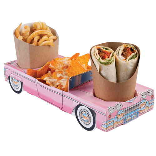 Hot Rod Ford Fairlane 55 Paper Carton - Pink Cadillac Combi