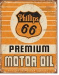 American Advertising Tin Sign - Vintage Wall Decor - Phillips 66 Premium Oil