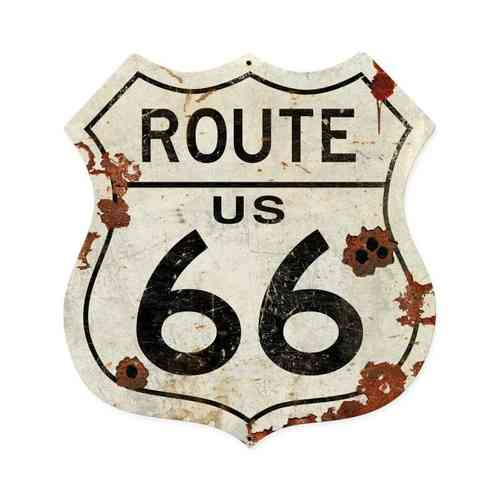Route US 66 Shield Vintage Sign