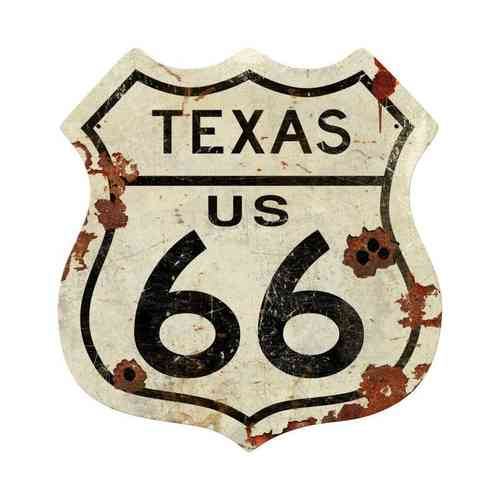Texas US 66 Shield Vintage Plasma