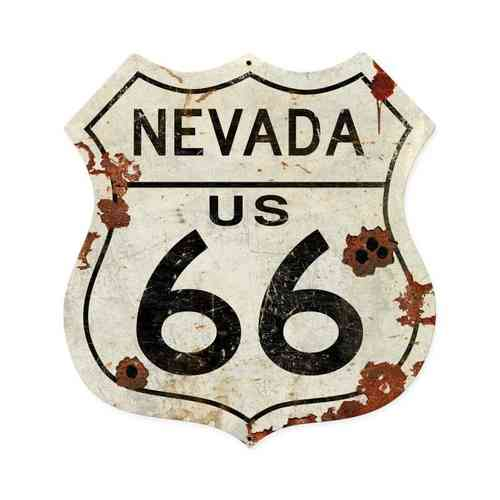 Nevada US 66 Shield Plasma