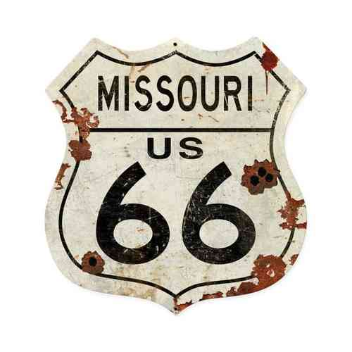 Missouri US 66 Shield Vintage Plasma