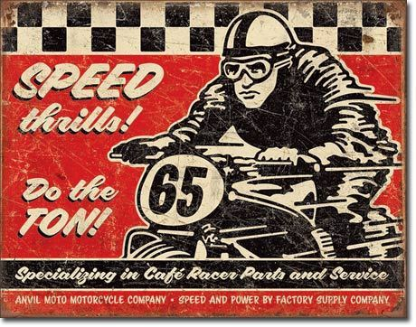 American Advertising Tin Sign - Vintage Wall Decor - Speed Thrills