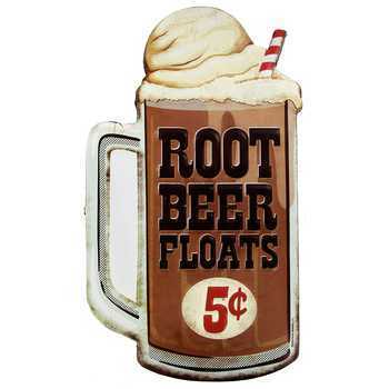 American Retro Tin Sign - Root Beer Float 5 cents