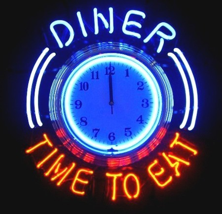 HORLOGE NEON - TIME TO EAT