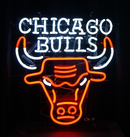 Neon Sign CHICAGO BULLS