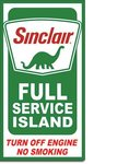 American Advertising Tin Sign - Vintage Wall Decor - Sinclair Service Island