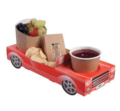Hot Rod Ford Fairlane 55 Paper Carton - Red Convertible  Combi