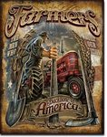 American Advertising Tin Sign - Farmers - Backbone