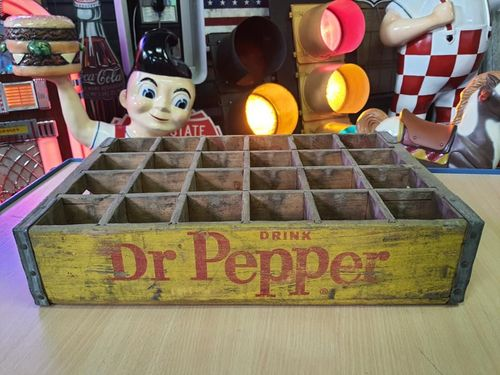 Wood Box Dr Pepper Yellow