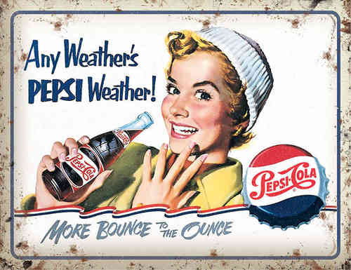 Plaque publicitaire Pepsi Weather