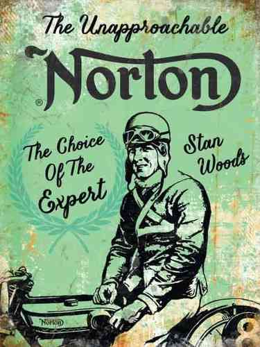 Plaque de décoration murale Norton Retro Stan