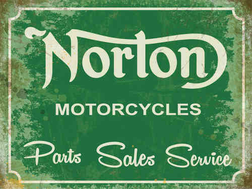 Plaque de décoration murale Norton Garage Green