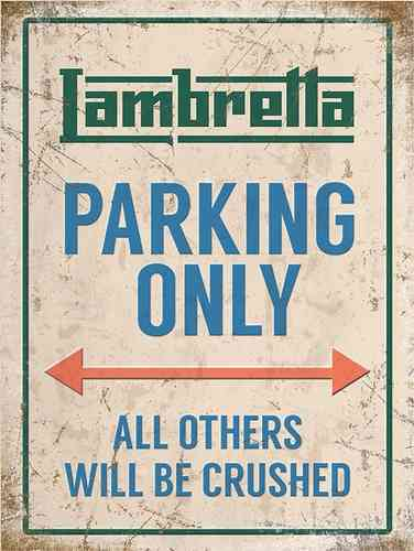 Plaque de décoration murale Lambretta Parking Only