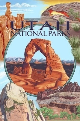 Poster UTAH National Parks - Arches