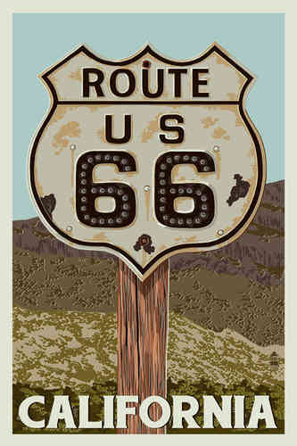 Poster ROUTE 66 California
